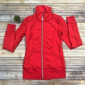 LULULEMON Love Red Contempo Jacket Size 4